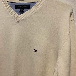 Tommy Hilfiger Sweaters - Tommy Hilfiger V-neck sweater M Cream color